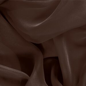 Caffe Brown Silk Chiffon Plain fabric for Ceremony Dress, Dress, Party dress, Shirt.