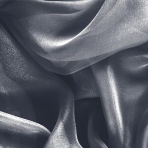 Antracite Gray Silk Chiffon Plain fabric for Ceremony Dress, Dress, Party dress, Shirt.