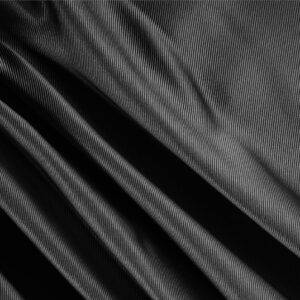 Black Silk Dogaressa Plain fabric for Ceremony Dress, Dress, Jacket, Party dress, Skirt, Underwear.