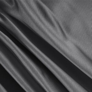 Anthracite Gray Silk Dogaressa Plain fabric for Ceremony Dress, Dress, Jacket, Party dress, Skirt, Underwear.