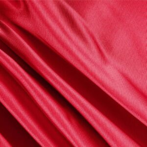 Fuoco Red Silk Dogaressa Plain fabric for Ceremony Dress, Dress, Jacket, Party dress, Skirt, Underwear.