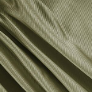 Muschio Green Silk Dogaressa Plain fabric for Ceremony Dress, Dress, Jacket, Party dress, Skirt, Underwear.