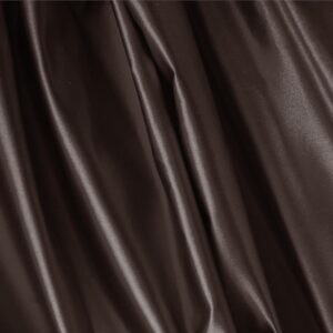 Testa Di Moro Brown Silk Duchesse Plain fabric for Ceremony Dress, Dress, Jacket, Light Coat, Party dress, Skirt.
