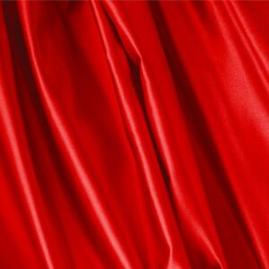 Fuoco Red Silk Duchesse Plain fabric for Ceremony Dress, Dress, Jacket, Light Coat, Party dress, Skirt.