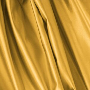 Arancio Yellow Silk Duchesse Plain fabric for Ceremony Dress, Dress, Jacket, Light Coat, Party dress, Skirt.