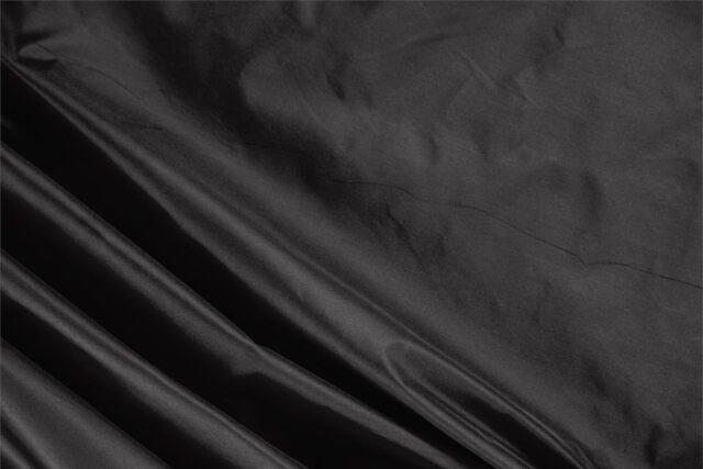 Black Taffeta fabric in pure silk for dressmaking