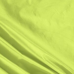 Acido Green Silk Taffeta Plain fabric for Ceremony Dress, Dress, Jacket, Light Coat, Party dress.