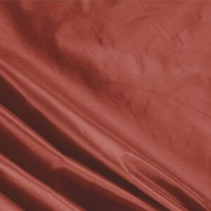 Mattone Brown Silk Taffeta Plain fabric for Ceremony Dress, Dress, Jacket, Light Coat, Party dress.