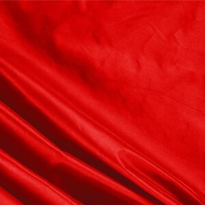 Fuoco Red Silk Taffeta Plain fabric for Ceremony Dress, Dress, Jacket, Light Coat, Party dress.