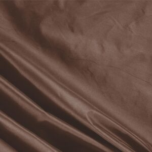 Castagna Brown Silk Taffeta Plain fabric for Ceremony Dress, Dress, Jacket, Light Coat, Party dress.