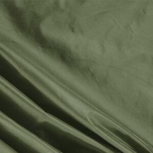 Oliva Green Silk Taffeta Plain fabric for Ceremony Dress, Dress, Jacket, Light Coat, Party dress.