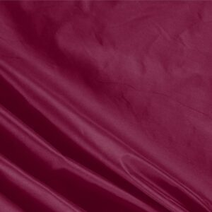 Tissu Uni Taffetas Rouge Burgundy en Soie pour Robe, Robe de cérémonie, Robe de soirée, Veste, Veste-Manteau légère.