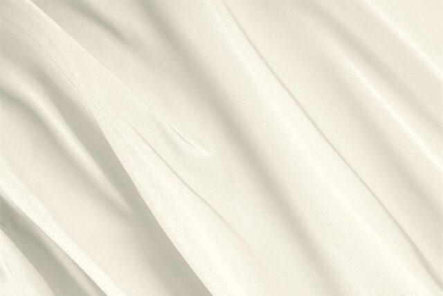 Tissu Uni Radzemire Blanc ivoire en Soie pour Jupe, Robe de cérémonie, Robe de mariée, Robe de soirée, Veste.