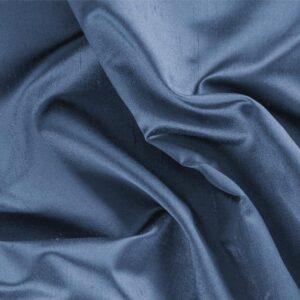 Tessuto Unito Raso Shantung Blu Calabrone in Seta per Abito, Abito da Cerimonia, Abito da Sera, Giacca, Gonna, Pantalone.