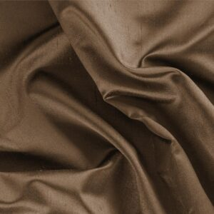 Bronzo Brown Silk Shantung Satin Plain fabric for Ceremony Dress, Dress, Jacket, Pants, Party dress, Skirt.