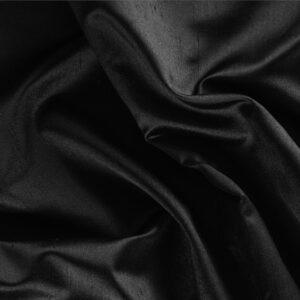 Tissu Uni Satin Shantung Noir en Soie pour Jupe, Pantalon, Robe, Robe de cérémonie, Robe de soirée, Veste.
