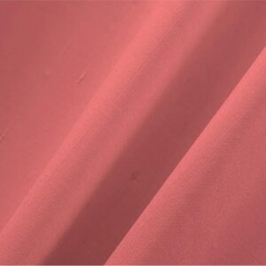 Geranium Fuxia Cotton, Silk Double Shantung Plain fabric for Ceremony Dress, Dress, Jacket, Pants, Skirt.