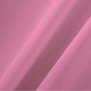 Dalia Pink Cotton, Silk Double Shantung Plain fabric for Ceremony Dress, Dress, Jacket, Pants, Skirt.