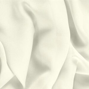 Ivory White Silk Georgette Bio Plain fabric for Ceremony Dress, Dress, Pants, Party dress, Shirt, Underwear, Wedding dress.