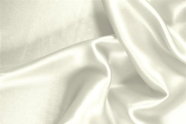 Ivory white Organic Silk Crêpe Satin fabric for dressmaking