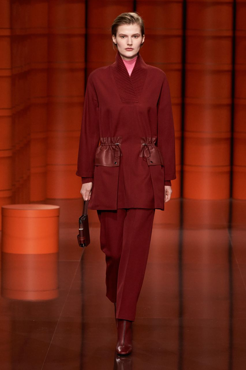 Rosso - Hermes Ready-to-Wear Fall-Winter 2021