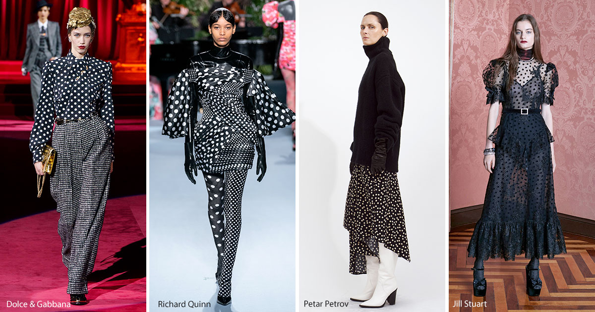 Polka dot fashion trend fall 2019