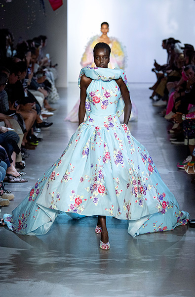 Tanager Turquoise- Prabal Gurung Ready-to-Wear Spring 2020