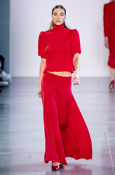 Fiery Red - Ryan Roche Ready-to-Wear Spring 2020