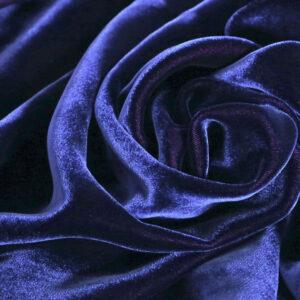 Blue Velvet fabric for Dress, Pants, Shirt, Skirt.