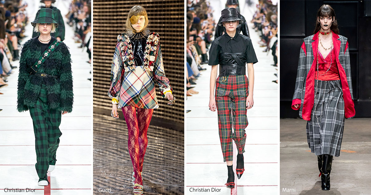 Tartan and plaid fashion trend fall 2019