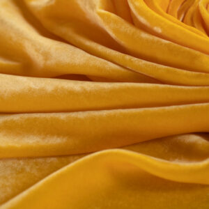 Yellow Silk, Viscose Velvet fabric for Dress, Pants, Shirt, Skirt.