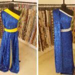 Floral dévoré velvet fabric in electric blue   new tess