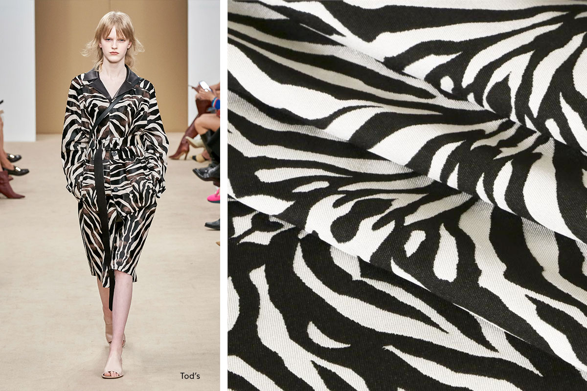 Zebra print coating fabric