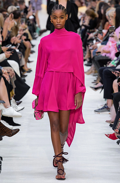 Beetroot Purple dress from Valentino Ready-to-Wear Spring 2020