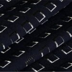 Blue, Gray Geomoetrico P02-01 Woven Fabric