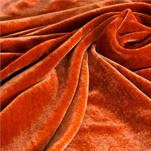 Orange Mixed Velvet fabric for Dress, Pants, Shirt, Skirt.