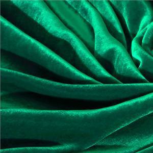 Tissu Velour Vert en Mélangés pour Chemise, Jupe, Pantalon, Robe.