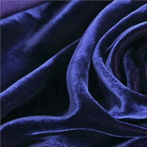 Blue Velvet fabric for Dress, Pants, Shirt, Skirt.