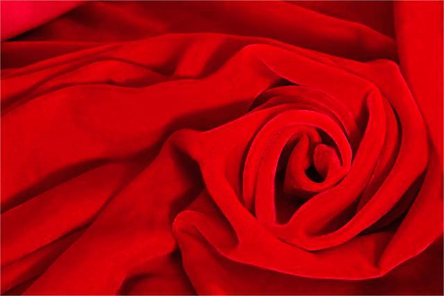 Red Silk and Viscose Velvet Fabric - 016