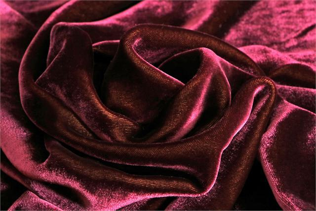 Purple Silk and Viscose Velvet Fabric - 026