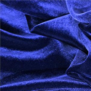 Blue Polyester, Viscose Velvet fabric for Dress, Pants, Shirt, Skirt.