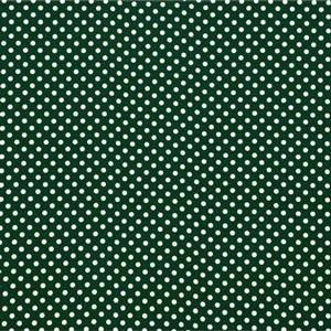 Green, White Silk Polka Dot Fabric - Crepe Se Omnibus Pois 201604
