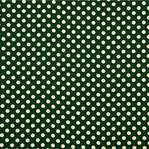 Tissu Crepe Se Ominibus Maxi Pois 201604 Blanc, Vert en Soie