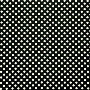 Black, White Silk Polka Dot Fabric - Crepe Se Ominibus Maxi Pois 201901