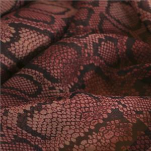 Red Silk Georgette Animals Print fabric for Dress, Shirt.