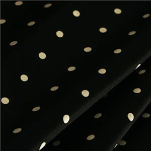 Black, White Silk Crêpe Satin Polka dot Print fabric for Dress, Pants, Shirt, Skirt.