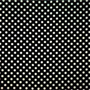 Black, White Silk Satin Polka Dot Fabric - Raso Se Ominibus Pois 201901