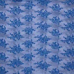 Tissu Rebrode Perlinato 004 Bleu en Polyester