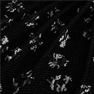 Black Mixed Weaves Bouclé/Weave/Tweed fabric for Jacket, Light Coat.