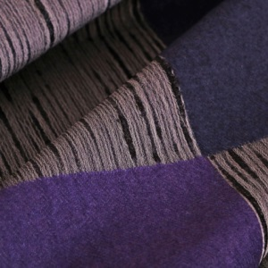 Gray, Purple Mixed, Wool Geometric Coat fabric for Coat.